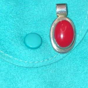 Jewelry - Coral Pendant Stamped 925 Mexico
